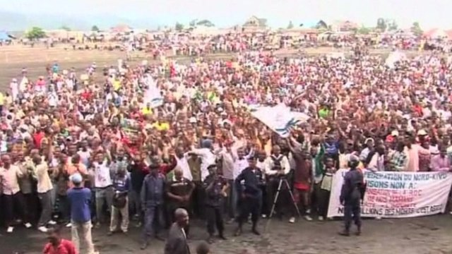 DR Congo election rally