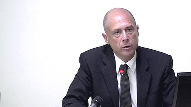 Solicitor Graham Shear gives evidence at the Leveson Inquiry