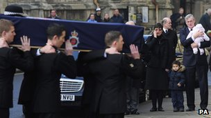 The funeral of Heather Cooper at York Minster