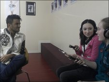 Duncanrig Secondary School Reporters put questions to Peter Andre