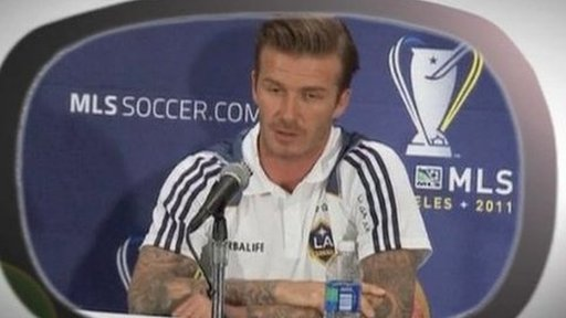 LA Galaxy player David Beckham