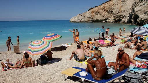 Beach on the island of Lefkada, Greece