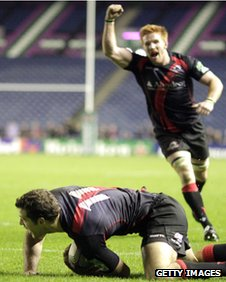 Tim Visser's late try gave Edinburgh a dramatic victory at the weekend
