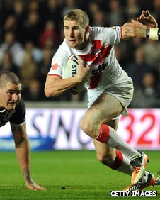 Sam Tomkins in action in the win over New Zealand in the Four Nations