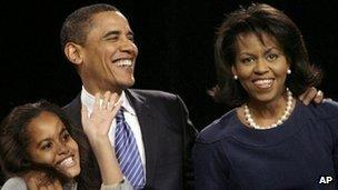 Barack Obama on Iowa caucus night, 2008