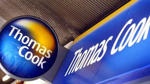 The logo of travel agency Thomas Cook