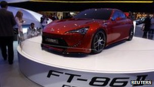 Toyota FT-86 concept at Frankfurt motor show in September 2011