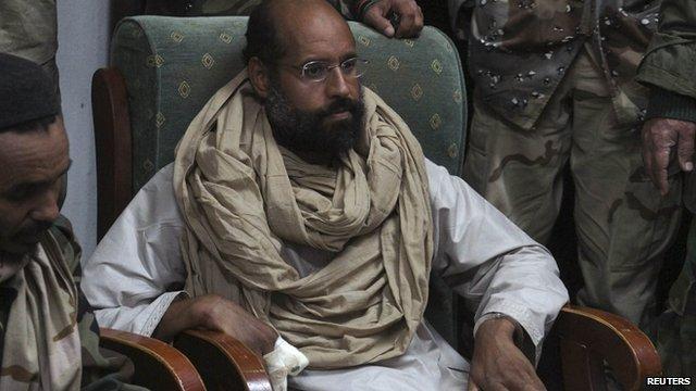 Saif al-Islam Gaddafi after his capture