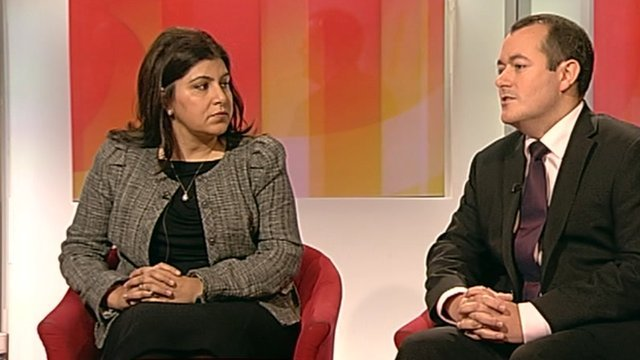 Baroness Warsi and Michael Dugher