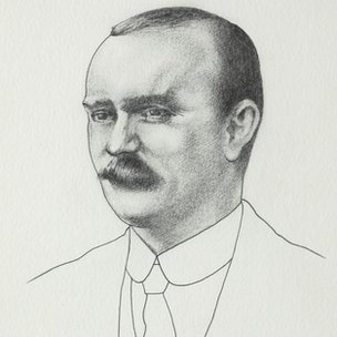 Pencil drawing of James Connolly