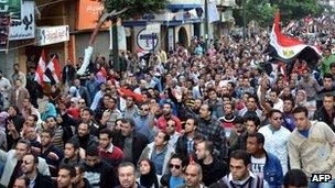 Protesters in Alexandria. Photo: 22 November 2011