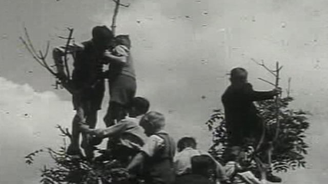 A scene from Y Cymro. Footage courtesy of the National Screen and Sound Archive of Wales.