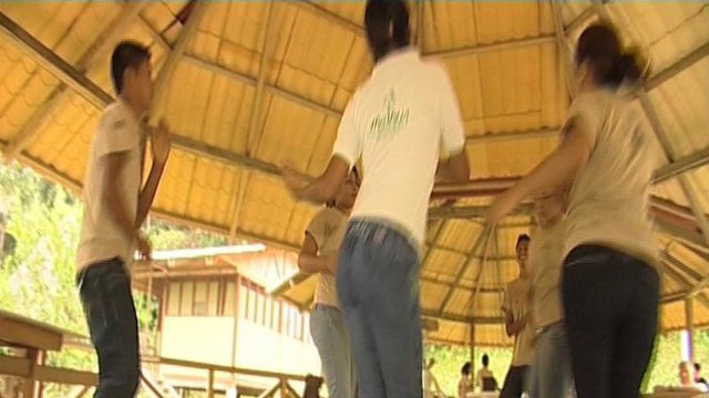 Yachana pupils do their dance