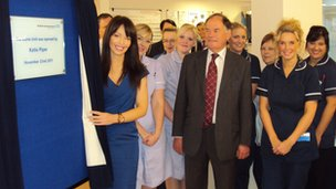 Katie Piper opens a new burns unit at the Northern General Hospital in Sheffield