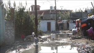 Flooded street in Hay al-Tannak