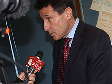 Seb Coe recording with School Reporter