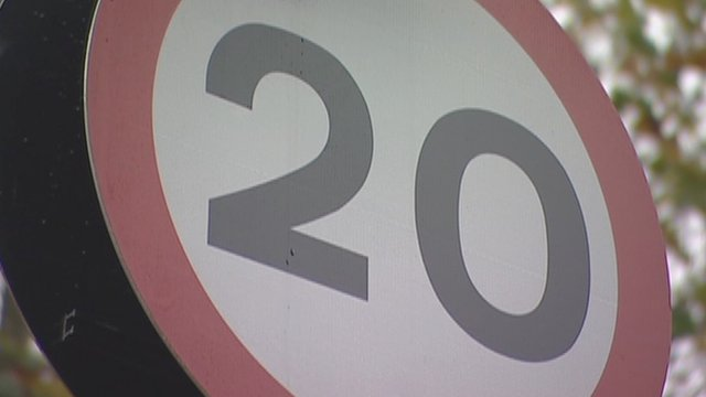 A 20mph sign in Islington