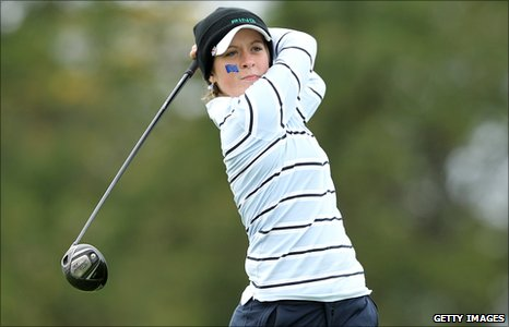 Young golf star Lauren Taylor takes a shot