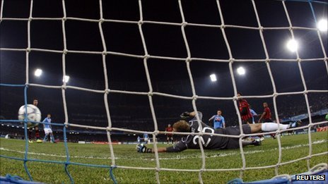 Napoli score the opening goal