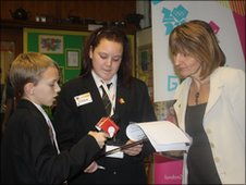 Jamie and Chloe interview the Headteacher of the school hosting the event