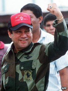 General Manuel Noriega in a file photo from October 1989