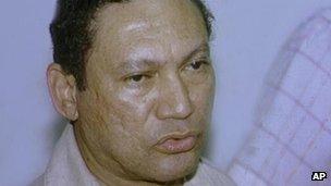 Manuel Antonio Noriega - file photo from 1987