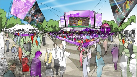 Images of how Hyde Park will look during next year's event
