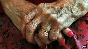 Elderly person&#039;s hands