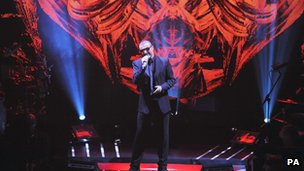 George Michael performing