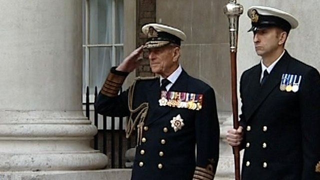 Duke of Edinburgh salutes