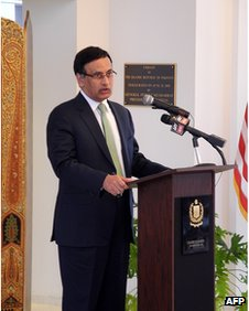 Pakistan's former ambassador to the United States, Husain Haqqani, at the embassy in Washington on March 9, 2011.