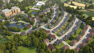 The proposed Llandeilo development