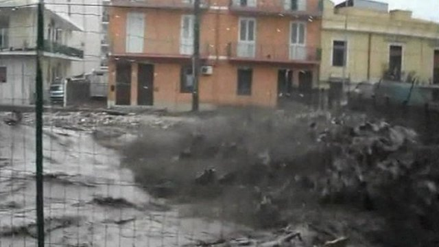 Flood waters rage in Italy