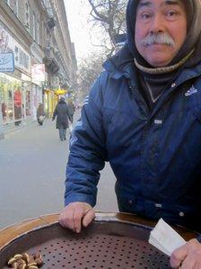 Chestnut seller, Budapest