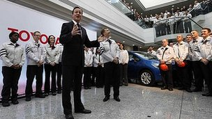 David Cameron at Toyota