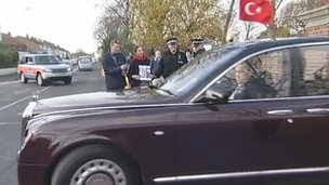 The children's UK-based family appealed to the Turkish president who was in Hampshire during a state visit