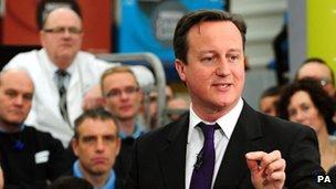 David Cameron visit Nestle in Tutbury