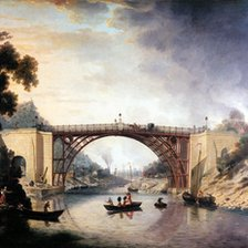 A painting of the Iron Bridge by William Williams. Courtesy of Ironbridge Gorge Museum Trust