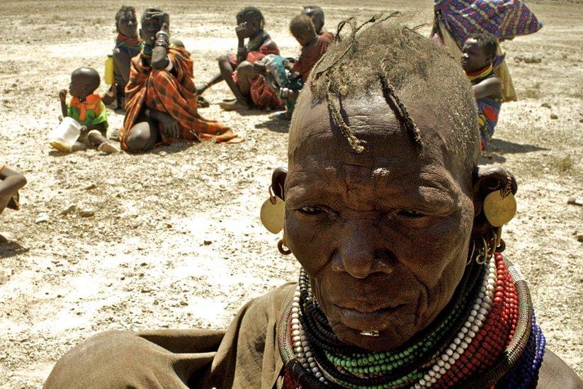 Elderly Turkana woman