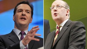 George Osborne and John Swinney