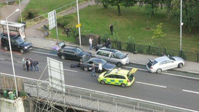 The scene where Mark Duggan was shot dead