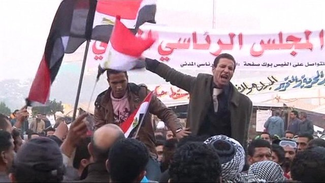 Protestor in Tahrir square.