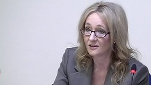 JK Rowling giving evidence to the Leveson Inquiry