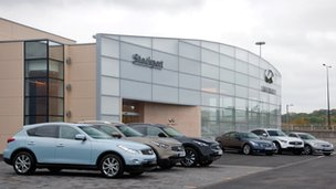 Infiniti dealership in Stockport