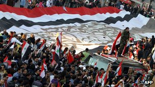 Pro-Assad rally in Damascus