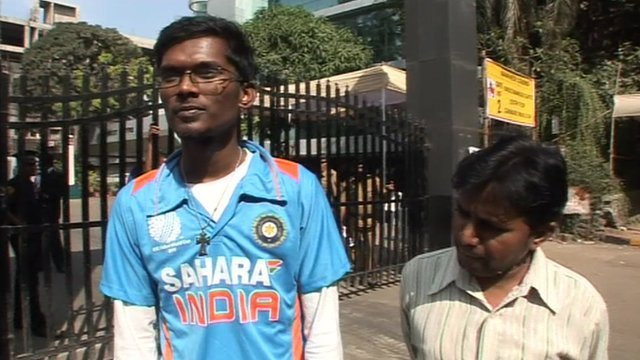 Disappointed fans of Sachin Tendulkar in Mumbai
