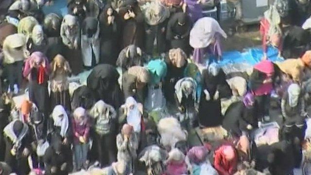 Protestors in Tahrir square in Cairo.