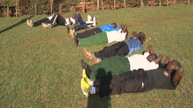 Athletes from St Patrick's in Kenya present students with an exhausting challenge