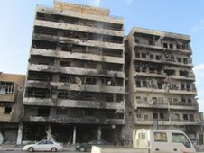 Damaged buildings in Misrata