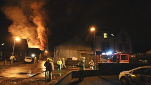 Fire in Young Street, West Calder Pic: Adrian Mcnab